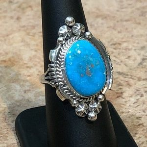 Gorgeous Large Native American Turquoise Ring